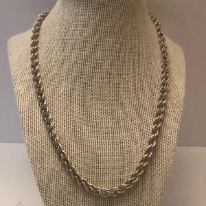 Vintage sterling 925 medium size rope chain